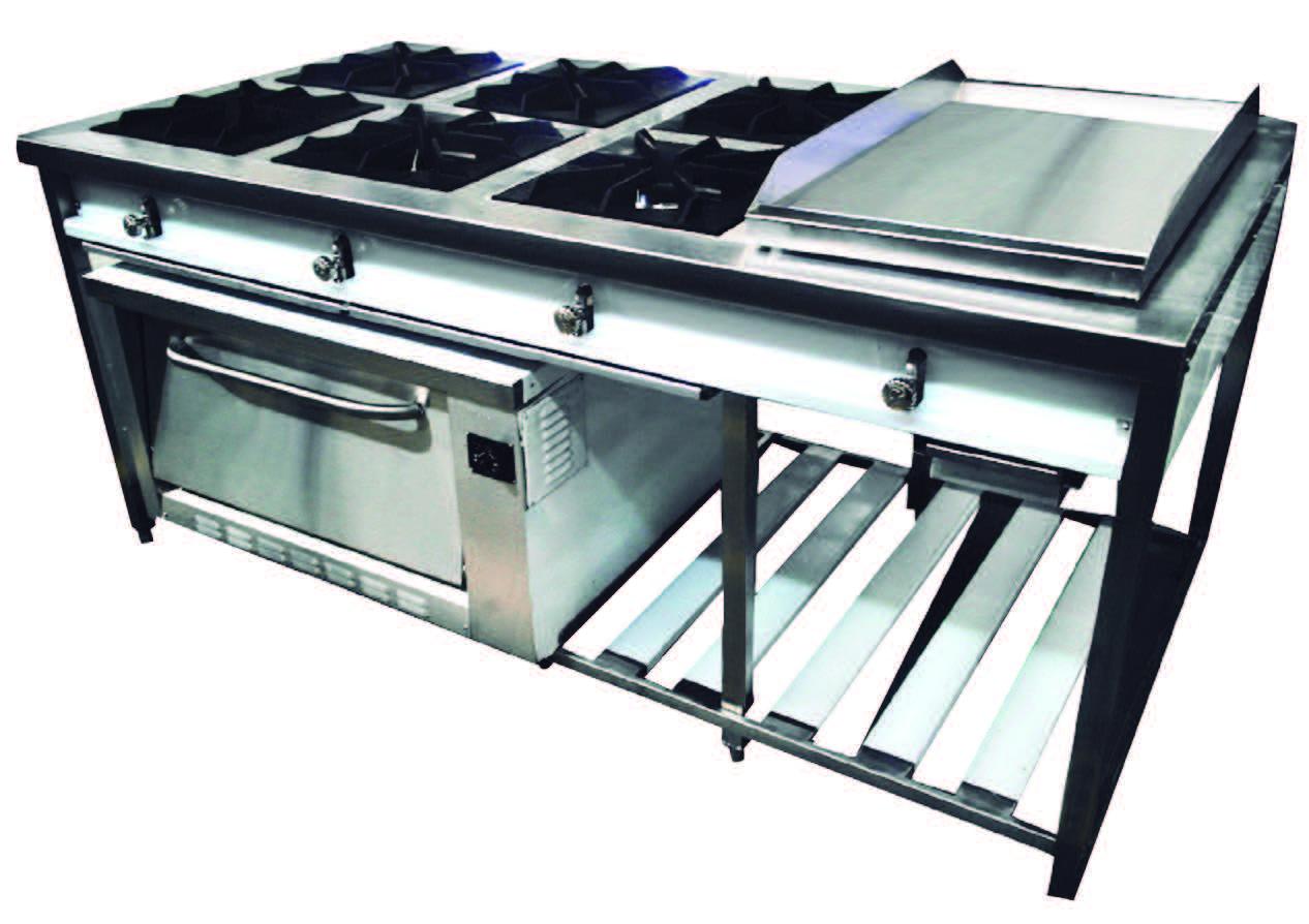 cocina a gas con horno cocinas industriales cocina industrial isla a gas con